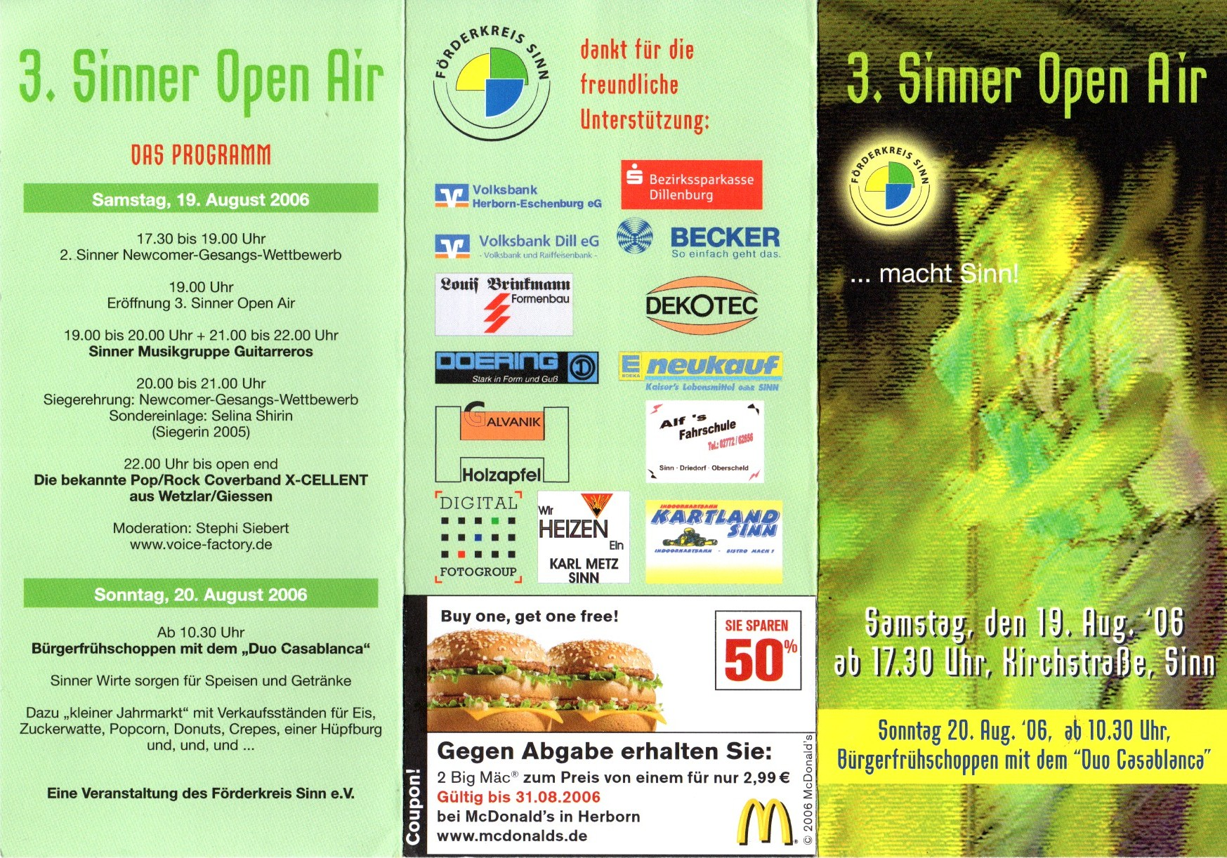 "Flyer ""3. Sinner Open Air"""